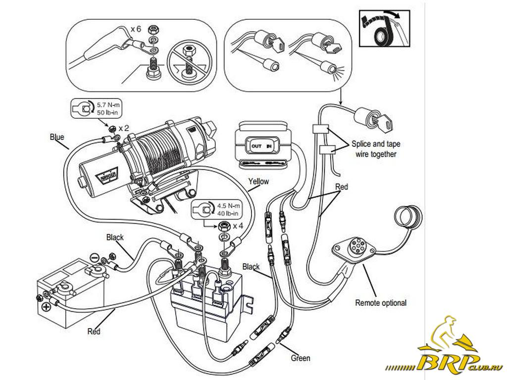 Схема подключения лебедки на постоянных магнитах6